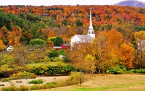 Peak foliage, northern VT