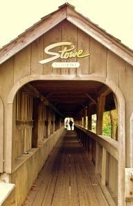 Sidewalk Covered Bridge, Stowe, VT-a