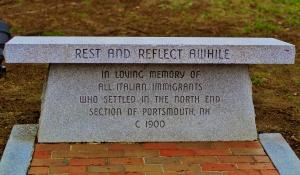 Bench in Portsmouth, NH-b